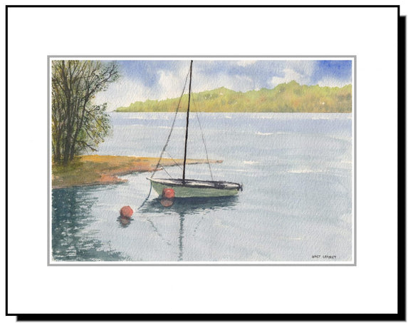 Watercolor Sail Boat Bucks County PA