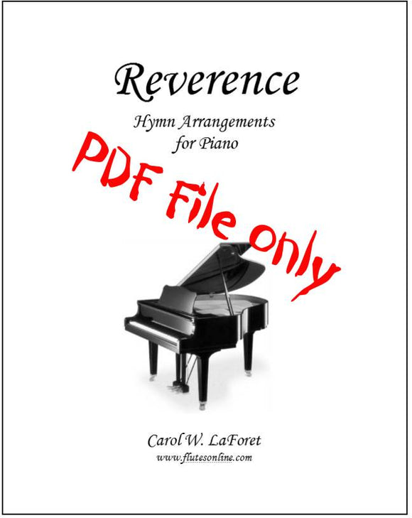 Reverence Hymn Arrangements for Piano PDF File