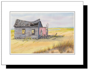 Watercolor Long Beach Island NJ Shack on Causeway