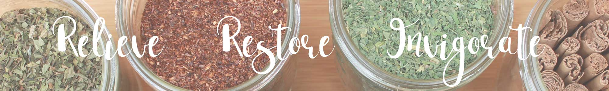 Herbal consultation banner image relieve restore invigorate your body holistically