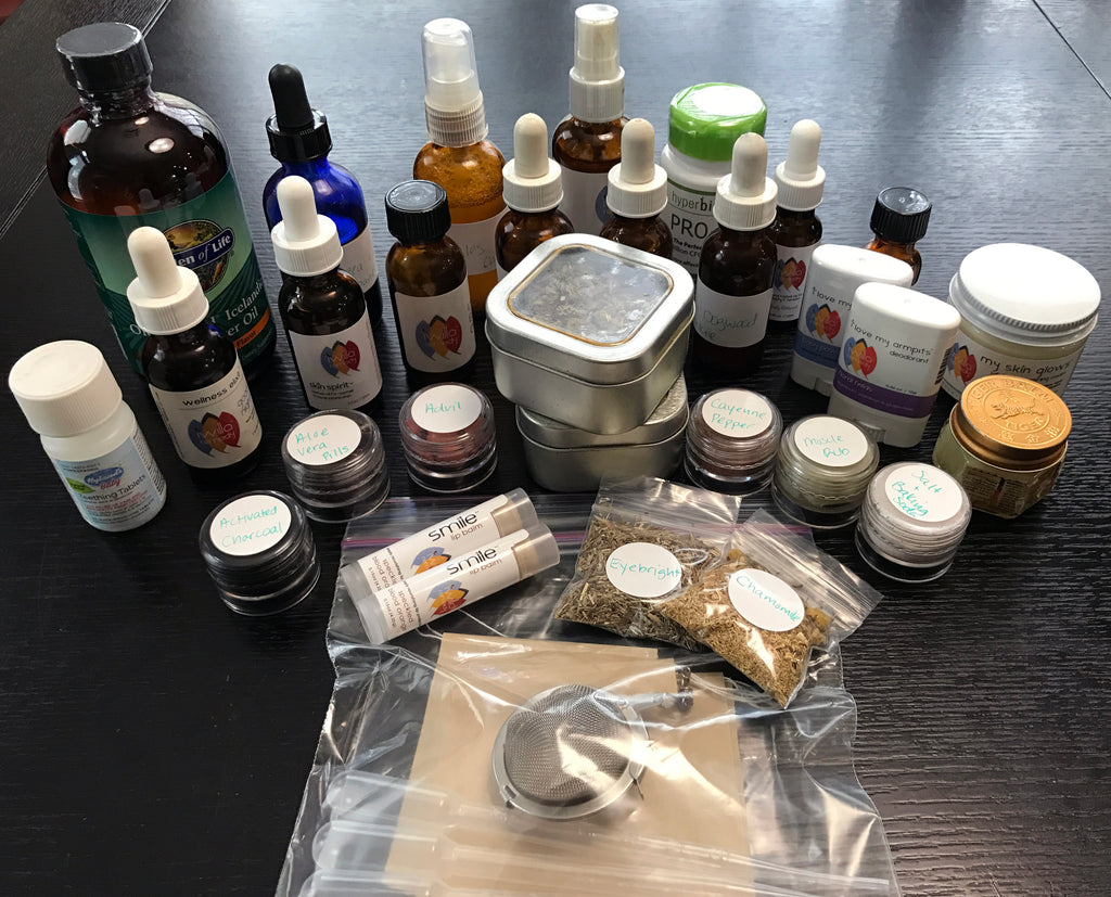 Design your own travel kit with natural remedies and herbs