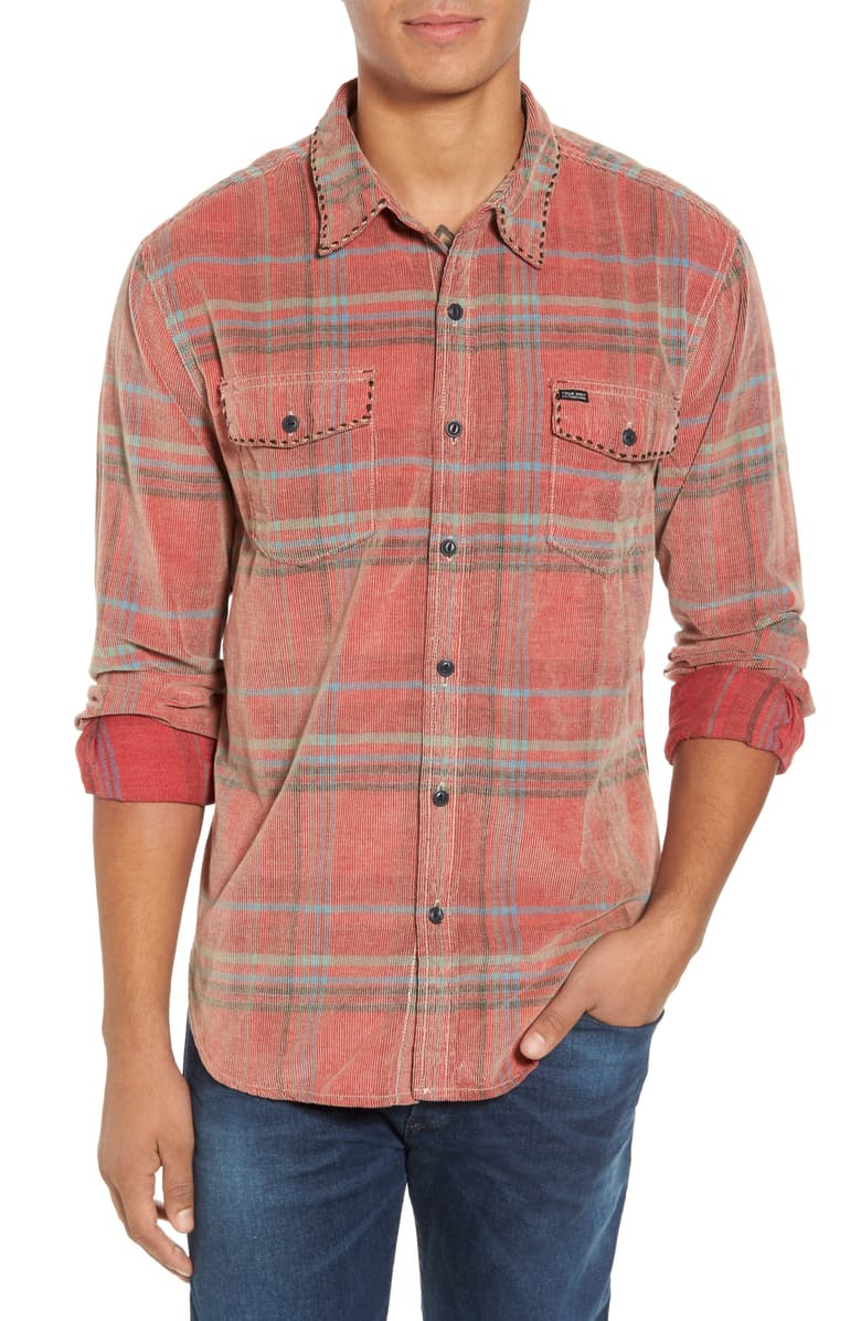 True Grit Baja Plaid Cord Shirt