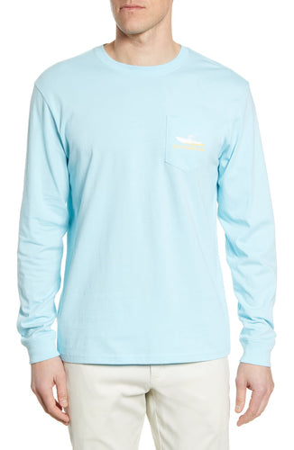 Center Console Long Sleeve Pocket Graphic Tee