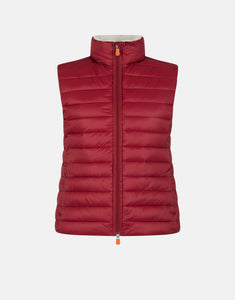 SAVE THE DUCK WOMEN'S GIGA VEST WITH FAUX SHERPA LINING