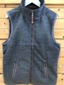 True Grit Herringbone Fleece Vest