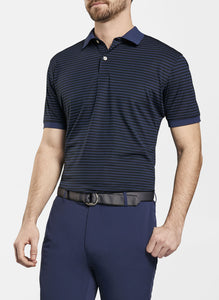 Crown Crafted Hines Stripe Piqué Mesh Polo