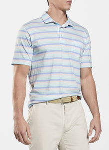 Seaside Aqua Cotton Julian Multi Stripe Polo