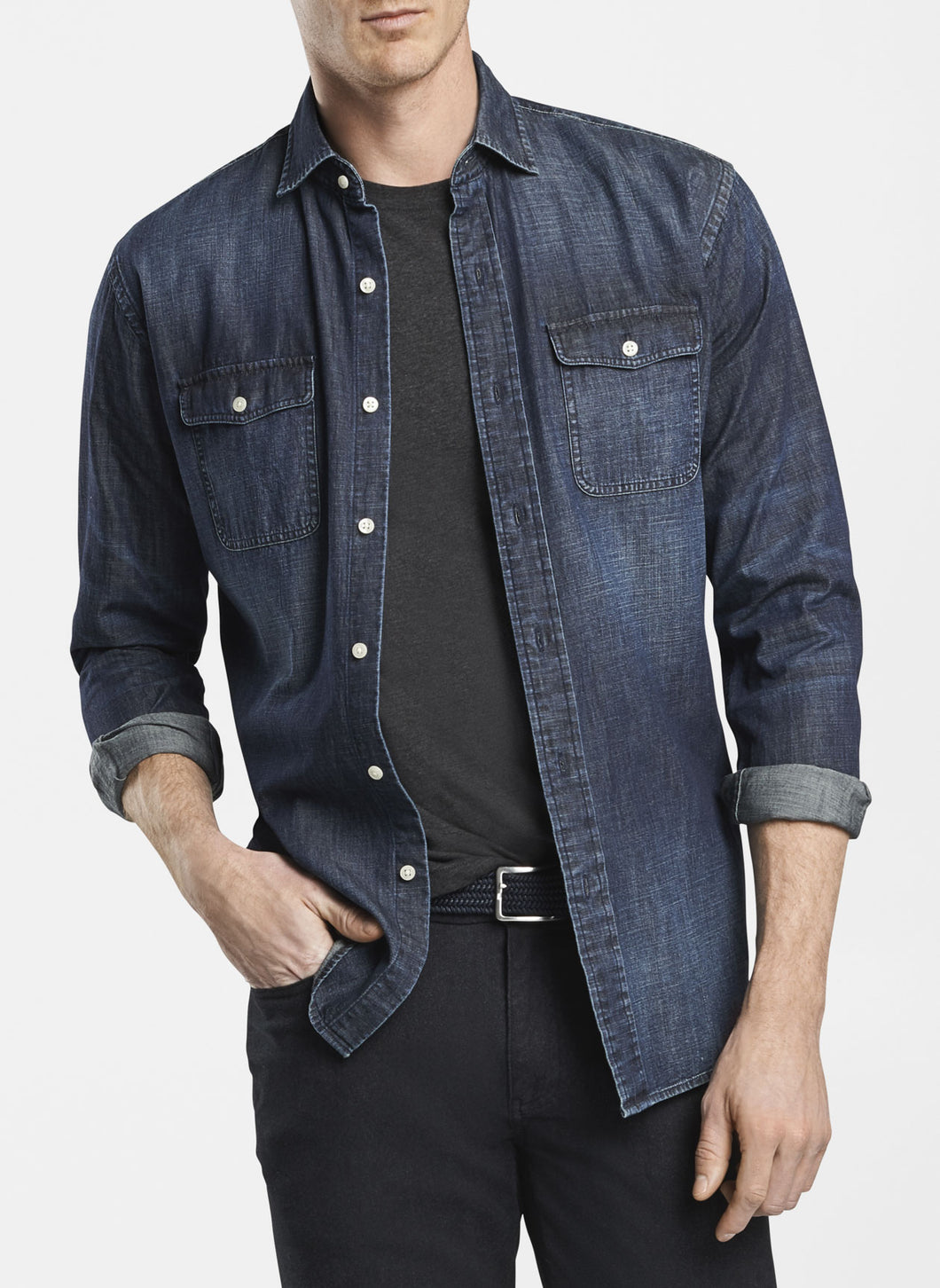 Mountainside Denim Indigo Sport Shirt