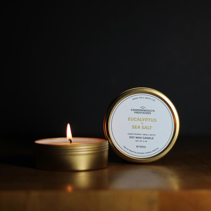 Eucalyptus + Sea Salt Travel Candle
