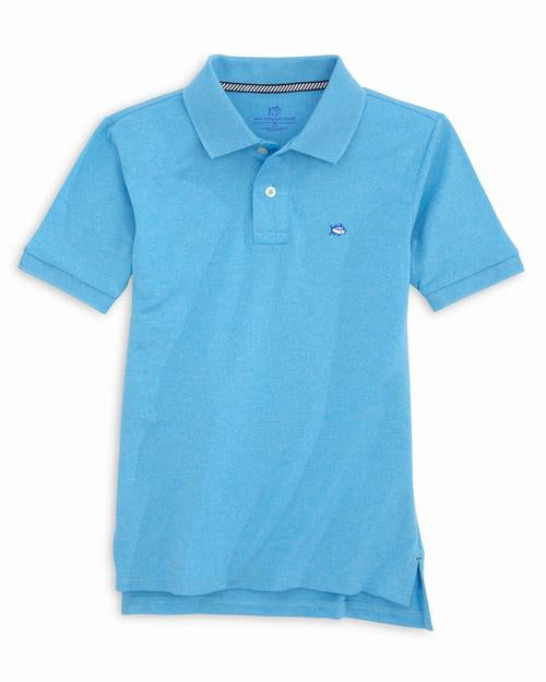 Boys Jack Heathered Performance Pique Polo Shirt
