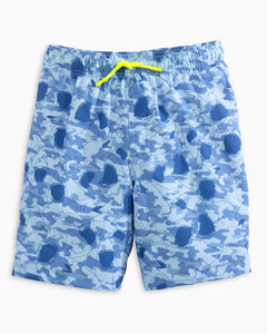 Boys Shark Frenzy Swim Trunk