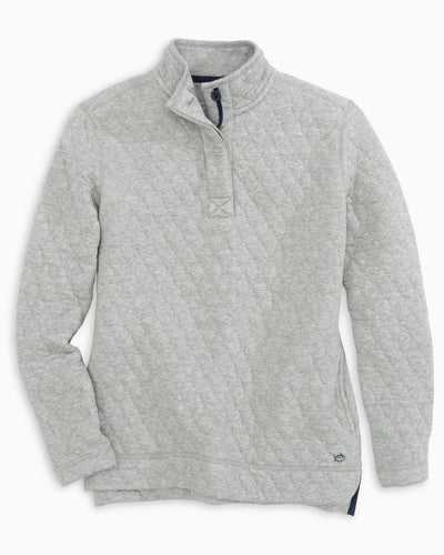 Heathered Quilted Pullover
