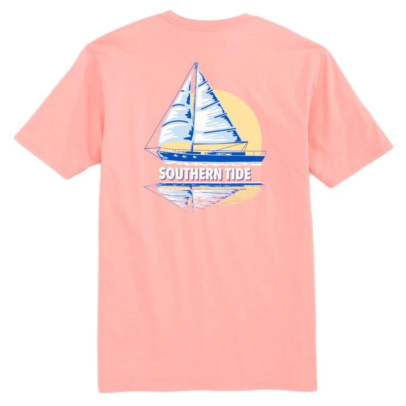 Sunset Sailing Reflection Tee Shirt
