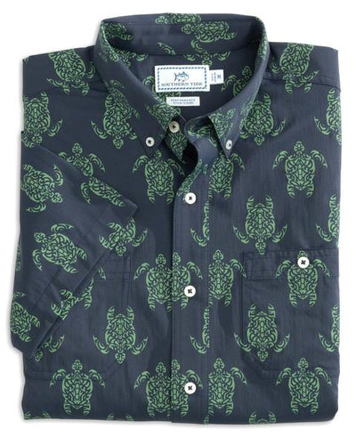 Men's Short Sleeve Intercoastal Turtle Sportshirt
