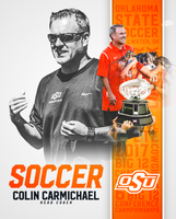 "Colin Carmichael autographed 8""x10"" photo, Oklahoma State Soccer"