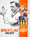 "John Smith Autographed 8""x10"" photo, Oklahoma State Wrestling"