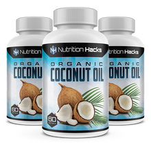 Organic Zero Fat Coconut Oil - 3 Bottles