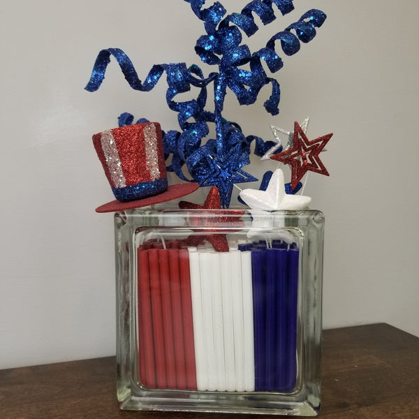 5 Minute Fourth of July Decor With Hot Glue Sticks