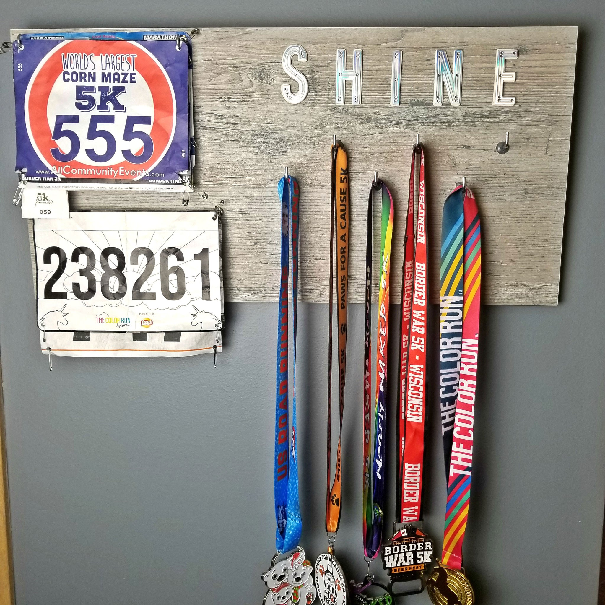 How To Make A Medal Display Board For Runners Surebonder