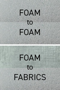 Used in spray form for foam-to-foam and foam-to-fabric applications