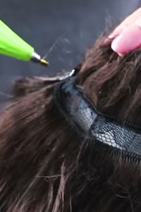 Good elasticity and resistance to heat (image: hair extensions)