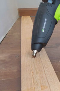 Provides a strong and rigid bond, good woodworking applications (image: baseboard)
