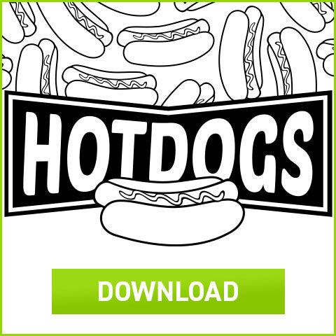 Download Coloring Book Hot Dog Box Template