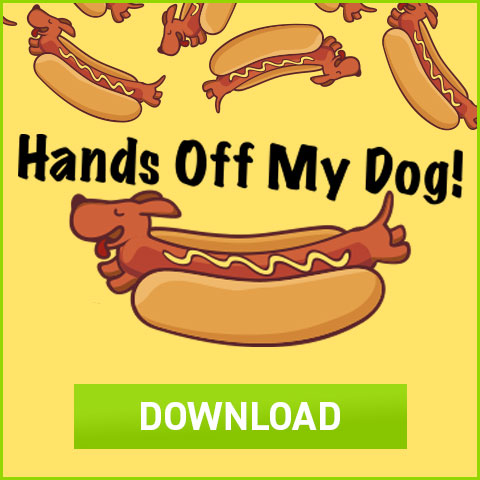 Download Hands Off My Dog Hot Dog Box Template