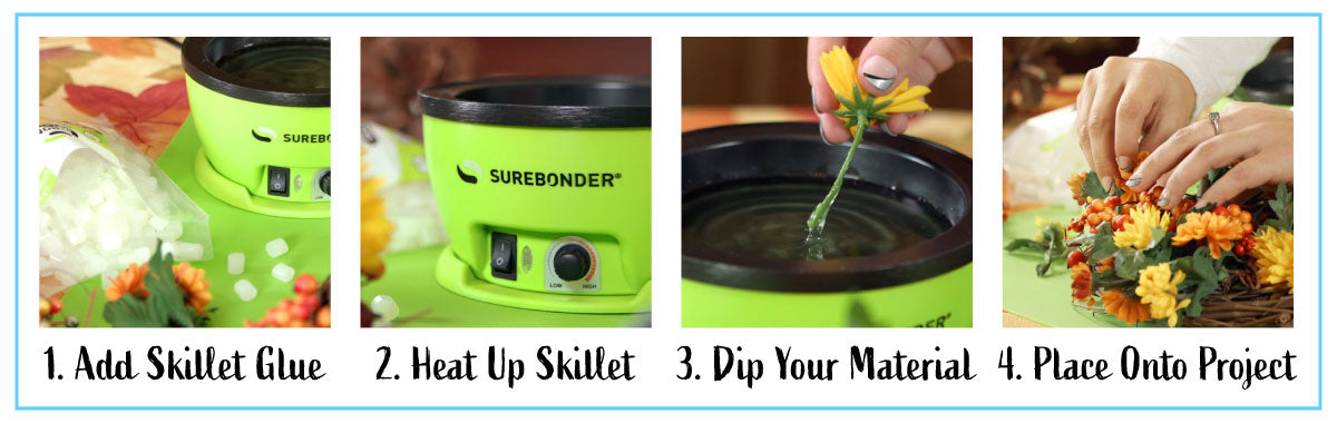 How to use the glue skillet