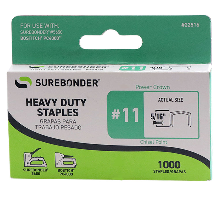 "#11 Power Crown Staples - 5/16""  - 1000 ct."