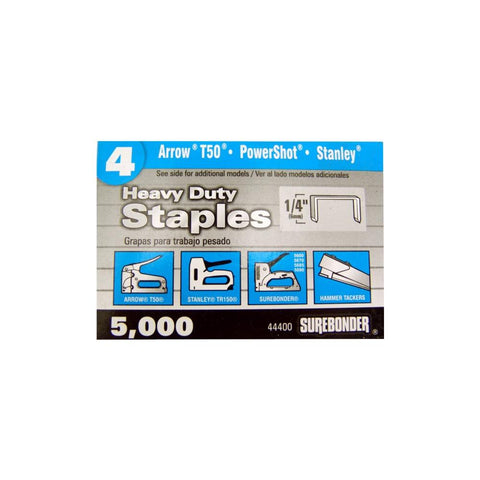 "#4 Heavy Duty Narrow Crown Staples - 1/4""  - 5000 ct."