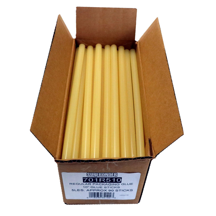 "701R510 Full Size 10""  Fast Set Hot Glue Stick - 5 lb Box"
