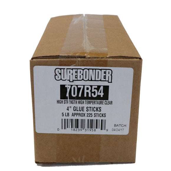 "707R54 Full Size 4"" High Strength Hot Glue Stick - 5 lb Box"