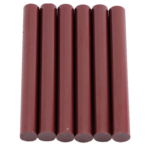 Burgundy Hot Glue Sticks Full Size