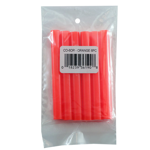 Orange Hot Glue Sticks Full Size