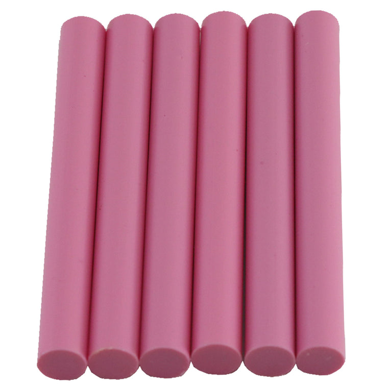 Pink Hot Glue Sticks Full Size