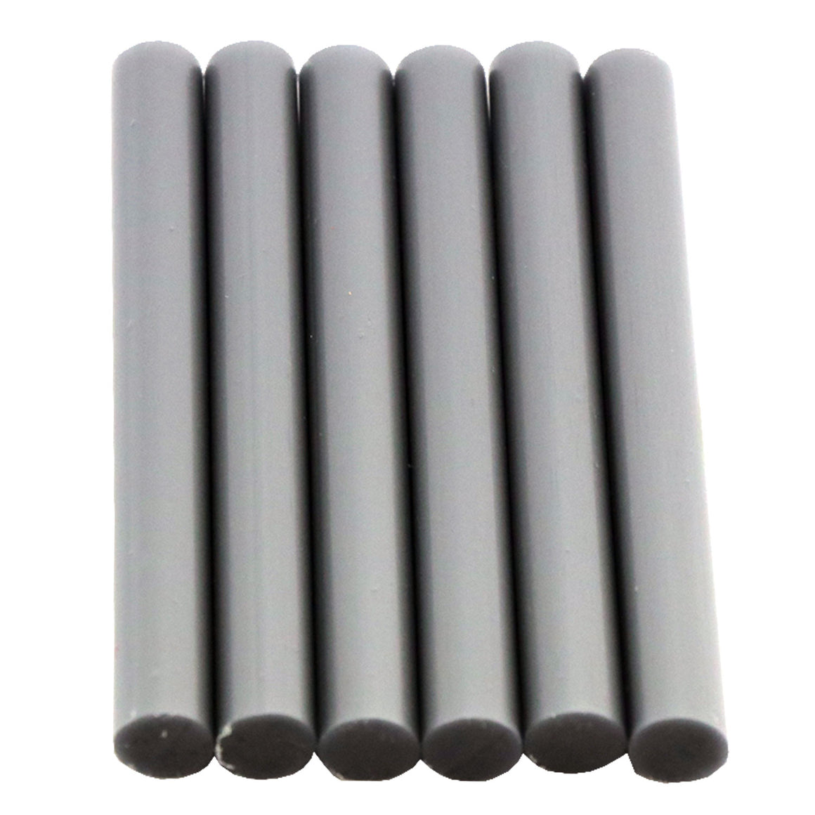 Silver Hot Glue Sticks Full Size