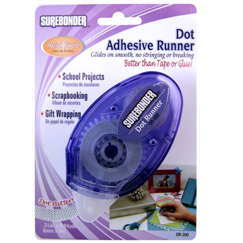 "DR-300 Adhesive Dot Runner - .31"" x 9.84 yd - Better than tape or glue!"