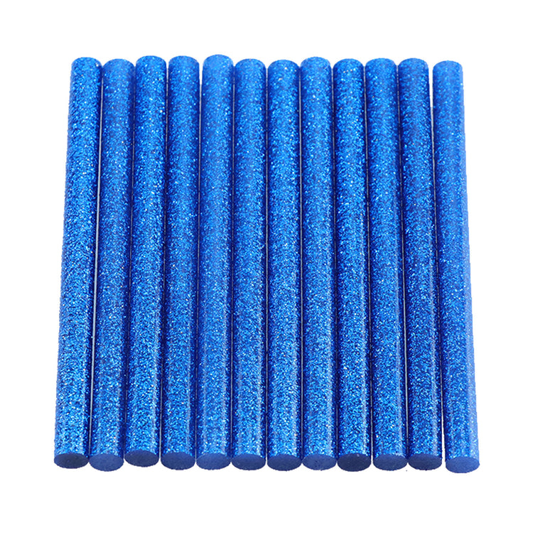 Blue Glitter Hot Glue Sticks Mini Size