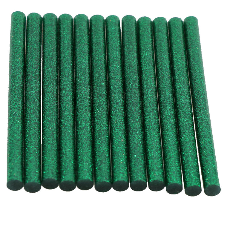 Green Glitter Hot Glue Sticks Mini Size