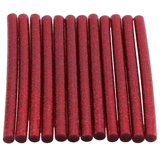Red Glitter Hot Glue Sticks Mini Size
