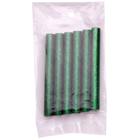 Green Glitter Hot Glue Sticks Full Size