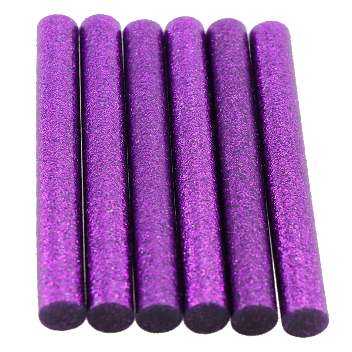 Purple Glitter Hot Glue Sticks Full Size