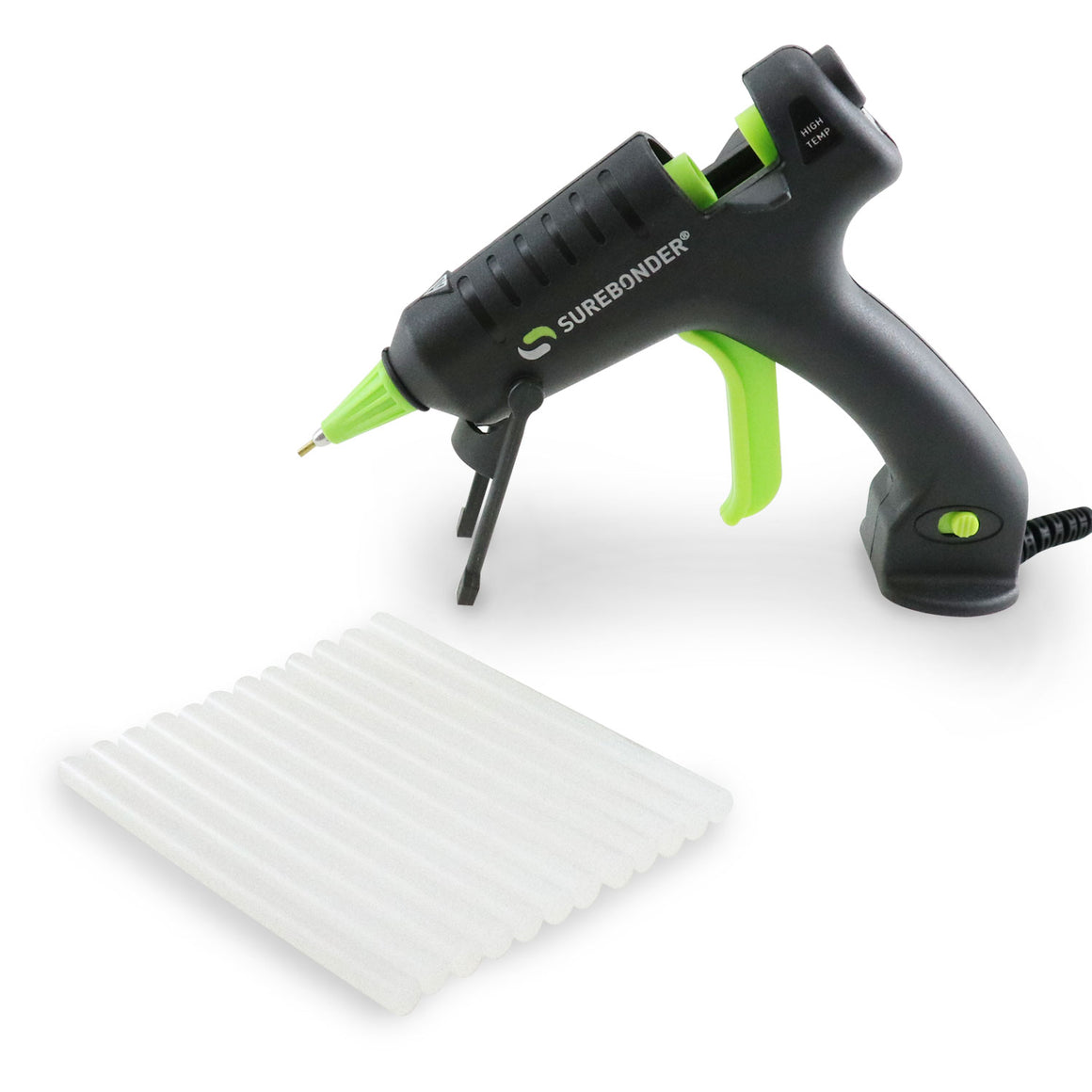 Surebonder H-195FBS-KIT 20 Watt Mini Size High Temperature Detail Hot Glue Gun with 12 Sticks Included