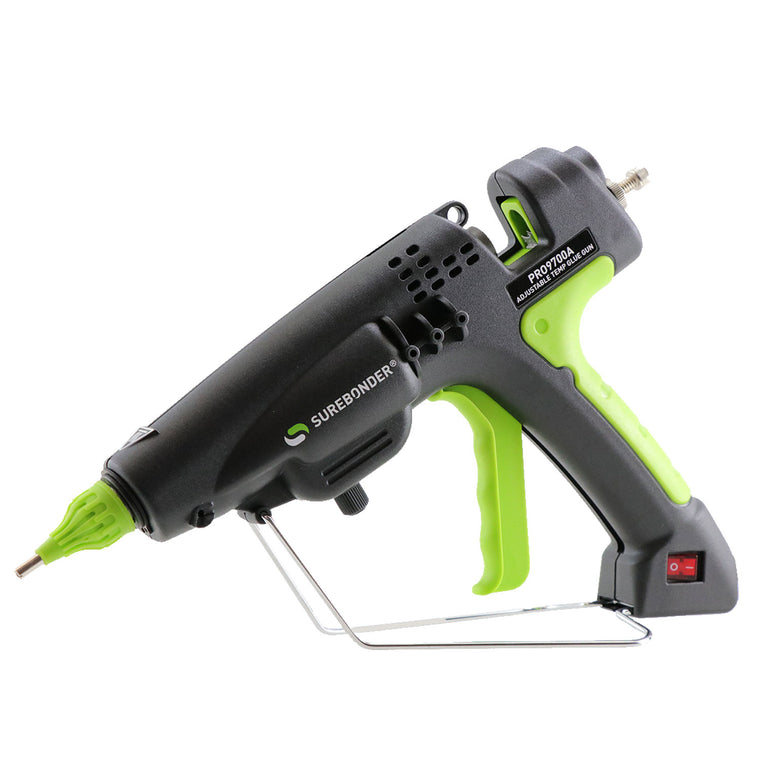 "PRO9700A 300 Watt Adjustable Temperature Professional Heavy Duty Hot Glue Gun - Uses Full Size, 7/16"" Sticks"