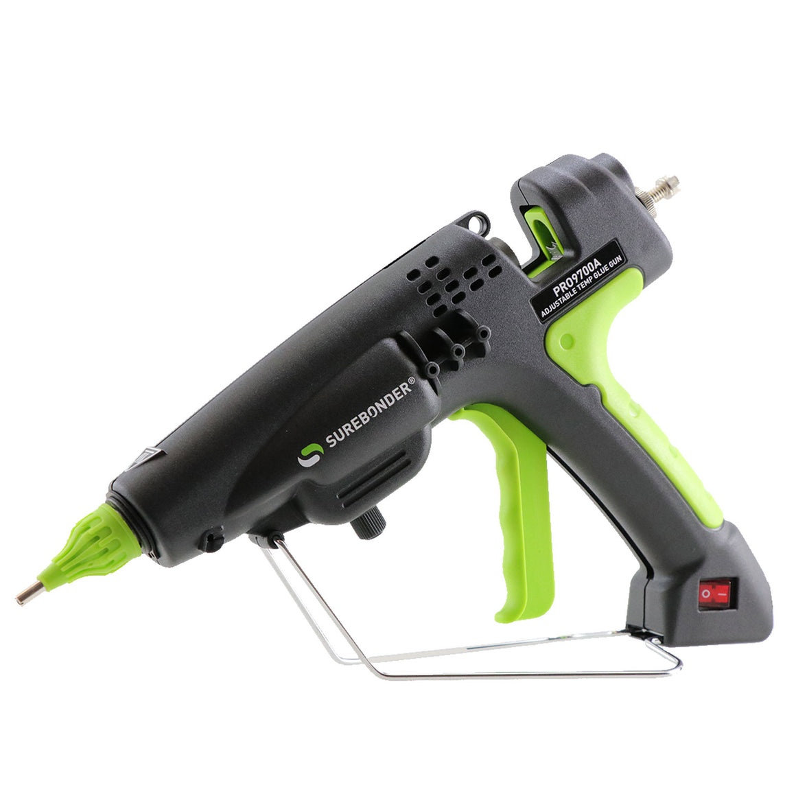 Surebonder 300 watt full size hot glue gun, heavy duty, 3 nozzle tips included in kit with metal stand and cord