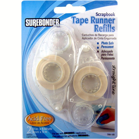 TRR-105 Scrapbook Tape Runner Refill Cartridges - 2 Pack