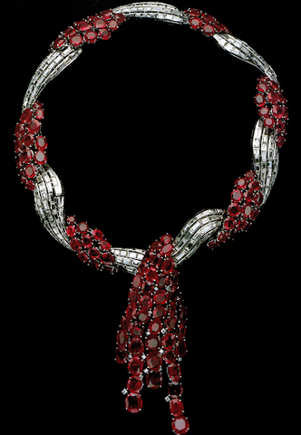 The Duchess of Windsor's Van Cleef & Arpels ruby necklace