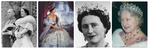 Famous images of the Queen Mother wearing the Oriental Circle