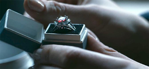 """The recreation of Princess Margaret's ruby ring featured in Netflix's """"The Crown"""""""